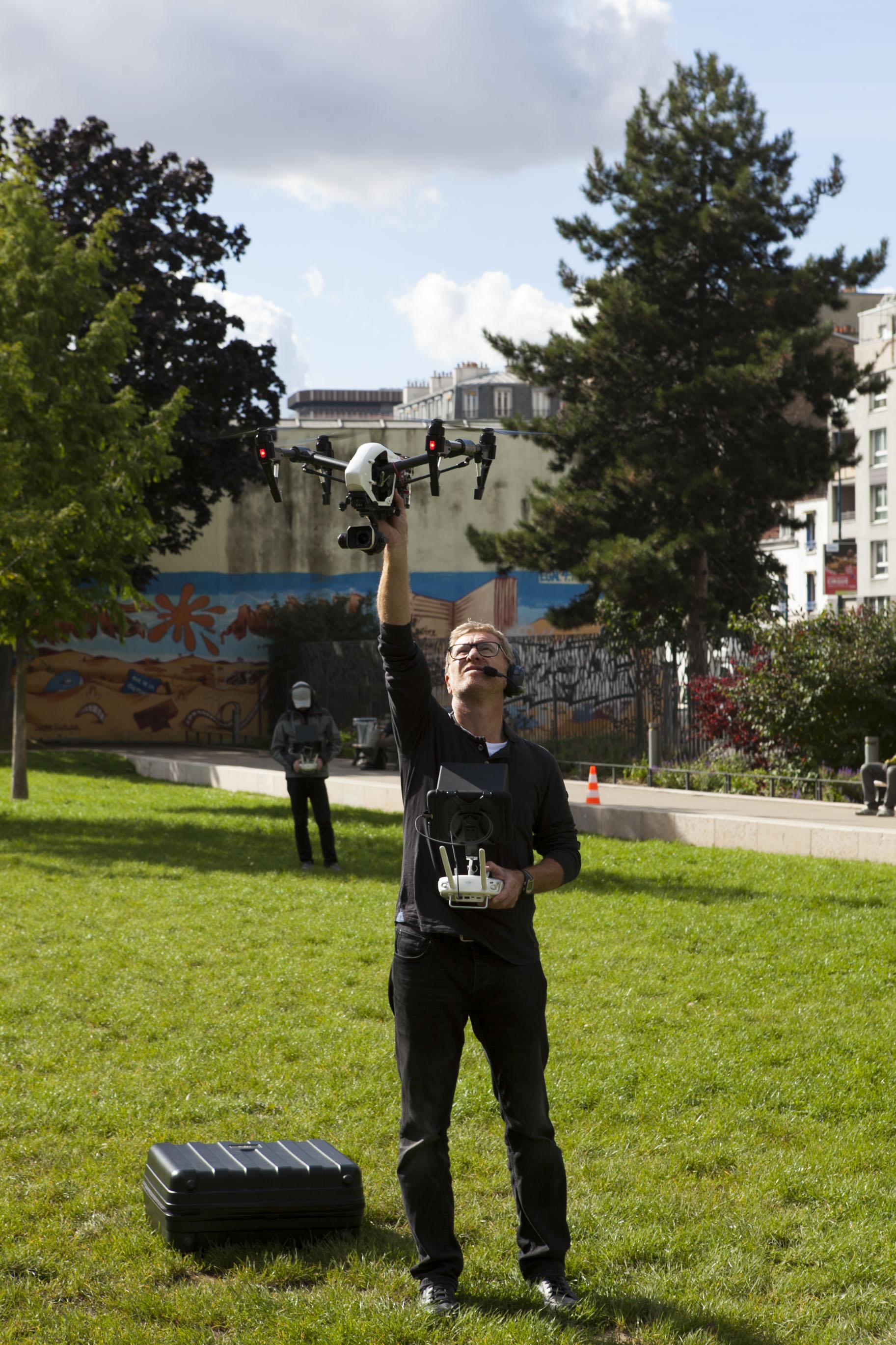 Shooting of 40 sites for EST ENSEMBLE (93) by D COM DRONE