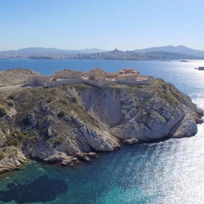 Drone photo of Marseille's Island of Frioul, France © Drone-Pictures