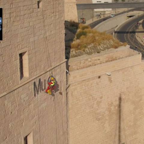 Drone-Pictures réalise pour OXY-signalétique le film de la pose de la nouvelle enseigne du Mucem!