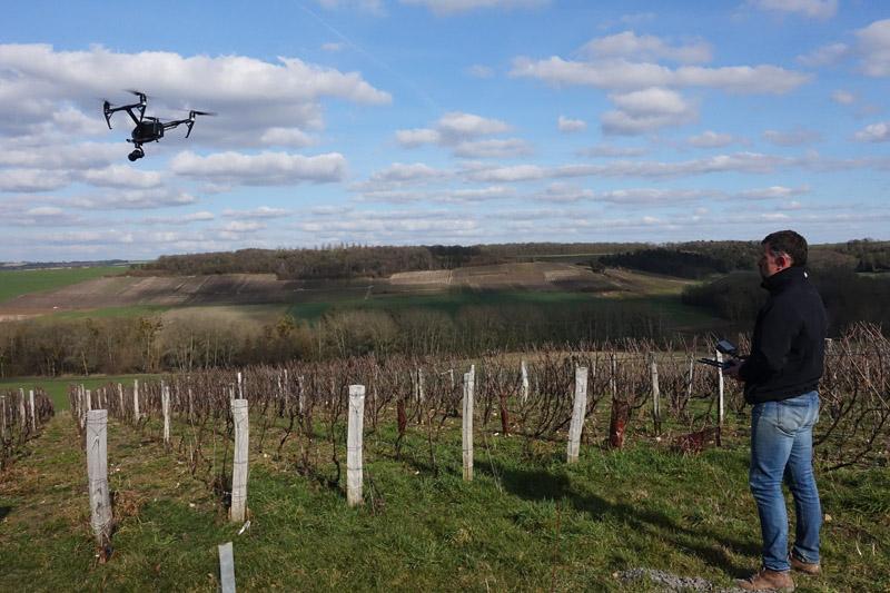 Tournages par drone en Champagne pour Aspasie