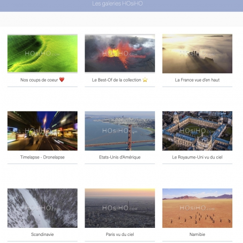 Actualité de la banque d'images aériennes HOsiHO.com