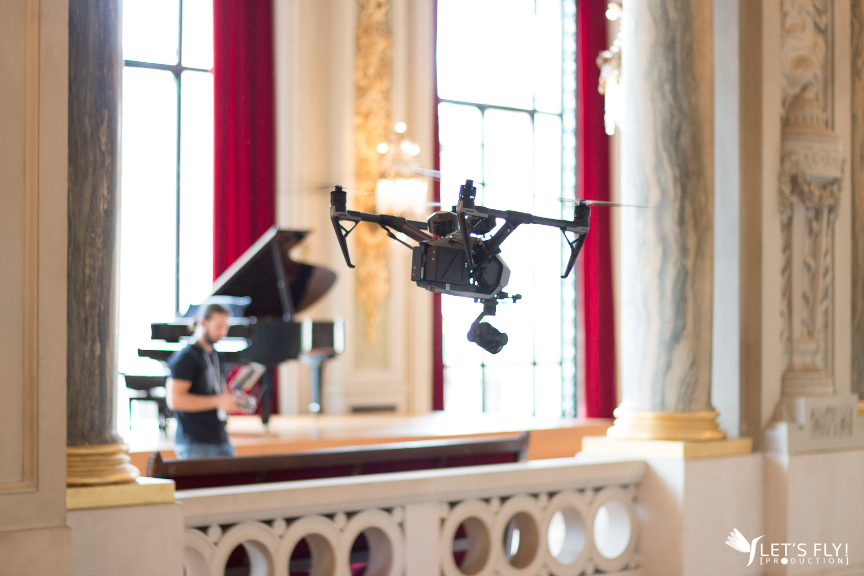 Production d'un film pour  l'Opéra de Lille, par LET'S FLY PRODUCTION